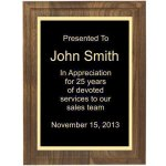 Two Step Solid Walnut Plaque Employee Awards