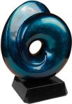 Blue Art Sculpture Award Employee Awards