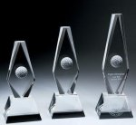 Golf Ball Diamond Trophy Crystal Award Golf Awards